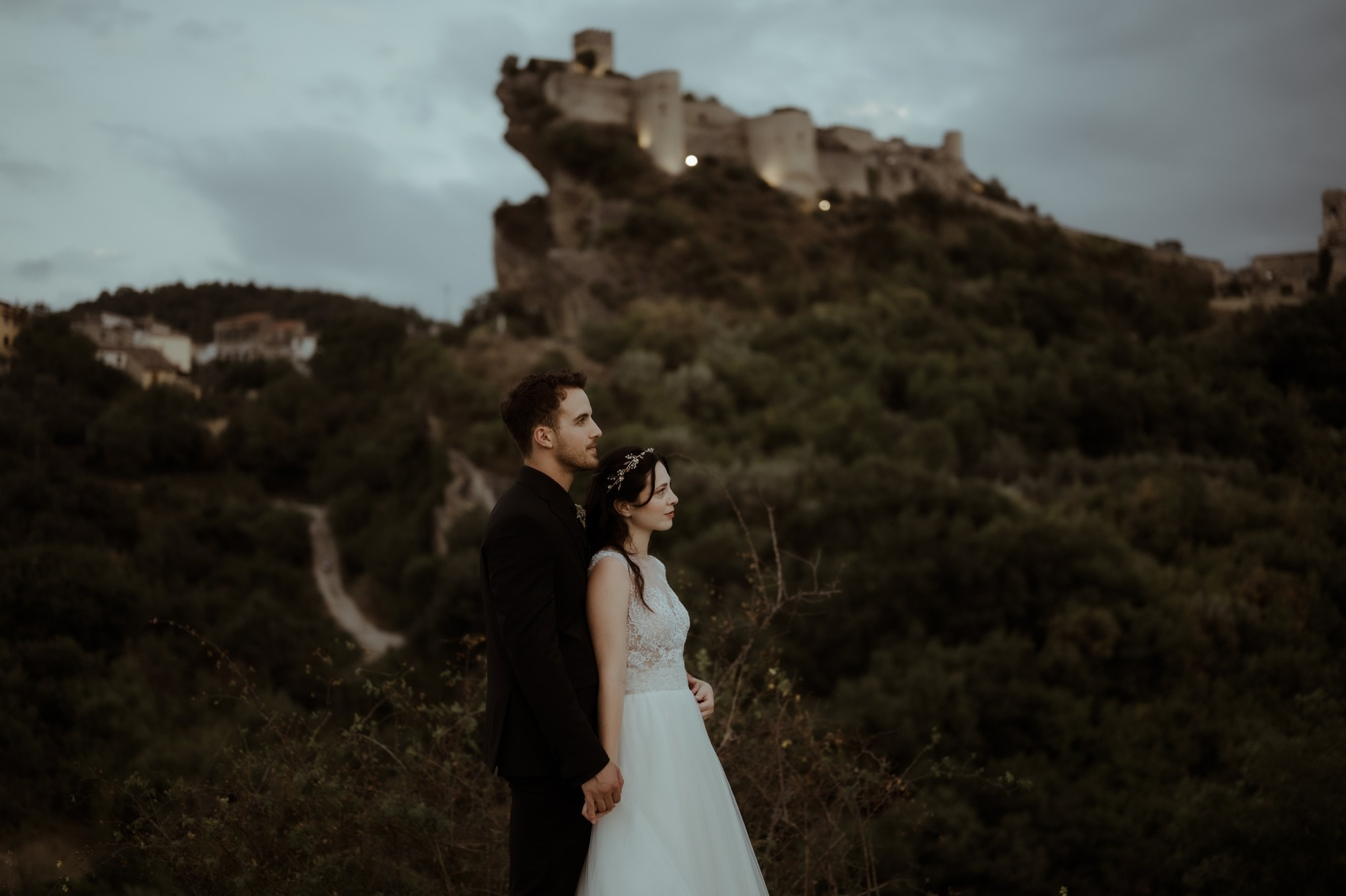 Couple facing east at Elopement in Italy | Italy Elopement Package