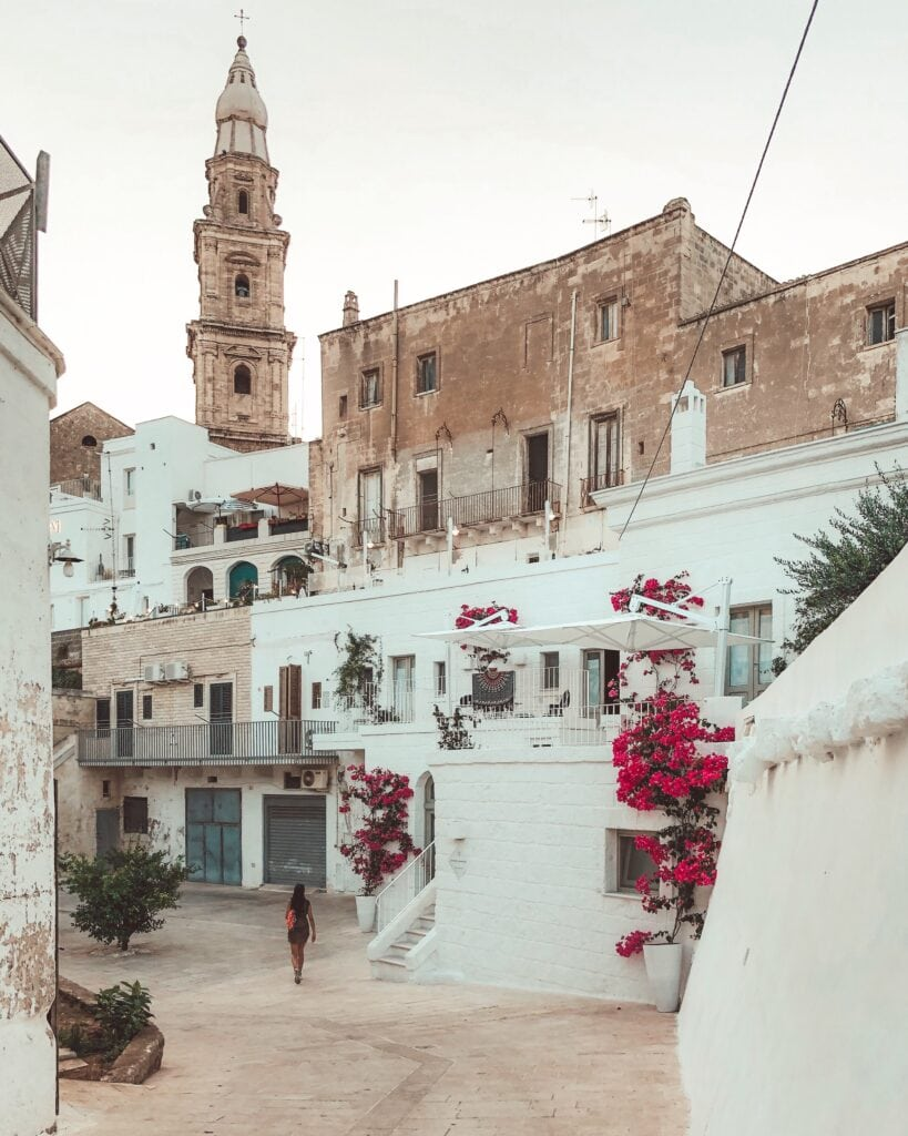 Typical rural street view in Apulia