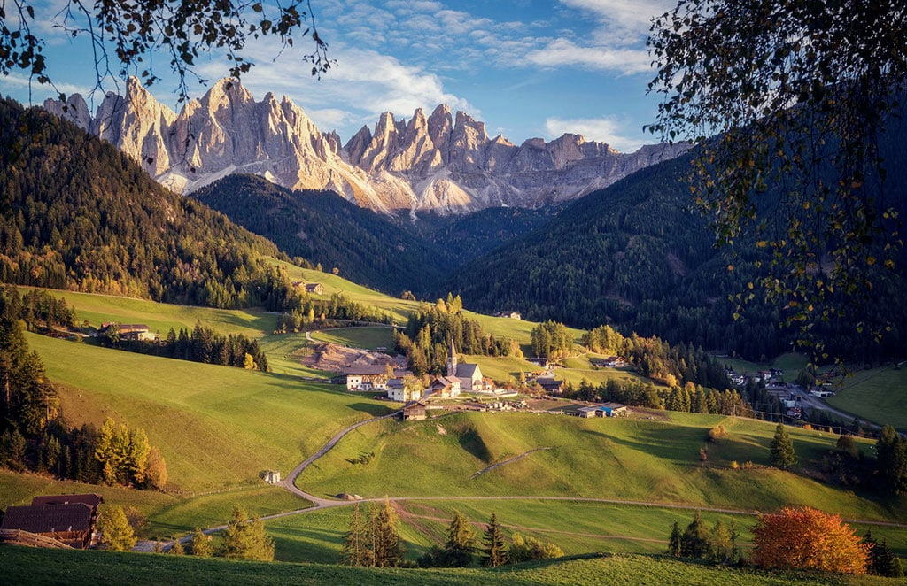 View of Val di Funes, Dolomites - One of the most beautiful elopement locations in Italy